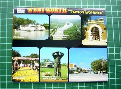 """1980's  POSTCARD Folder - WENTWORTH """"TOWN ON TWO RIVERS"""" NSW - Nu-color-Vue -NEW"""