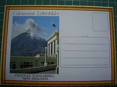 Rare 1980's Colourview LETTERFOLDER - CHATEAU TONGARIRO NEW ZEALAND NEW - TP8014