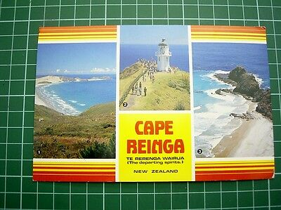 POSTCARD 3 VIEWS OF CAPE REINGA - Pmk 4 Mar 1985 at Cape Reinga NEW ZEALAND