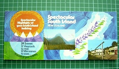 1980's Booklet with 12 Tear-off POSTCARDs -Views of SOUTH ISLAND NEW ZEALAND NEW