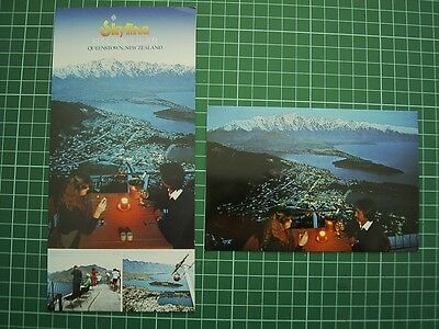 2 POSTCARD'S - 1980's SKYLINE GONDOLA QUEENSTOWN NEW ZEALAND - Colourview -NEW