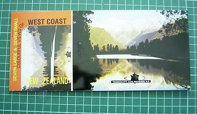 1980's Booklet with 7 Tear-off POSTCARDs -Views of WEST COAST ZEALAND NEW
