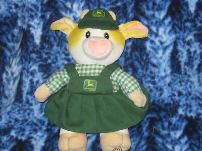 "Mary's Moo Moos John Deere Patty Stuffed Plush Cow 1999 Animal Toy 8"" Farm HTF"