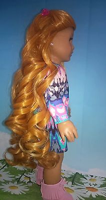 "10-11 Custom Doll Wig fit Blythe-American Girl-1/4 Size ""Golden Princess"" bn3"