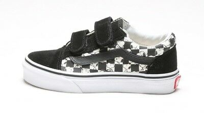 708956bf90a39f VANS PEANUTS OLD Skool V Kids 3 Youth Skate Shoes Checkerboard ...