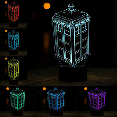 3D Illusion Colorful LED Desk Lamp Night Light Decoration in Bar Cafe Restaurant