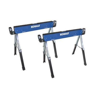 2-Pack Kobalt 42-in Steel Adjustable Saw Horse (1300-lb) Heavy Duty Durable New