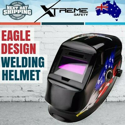 New Solar Auto Darkening Welding Helmet ARC/TIG/MIG Welder Machine Mask - Eagle