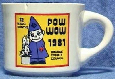 BSA Mug OCC Pow Wow 1981 wizard hat cub scout - chipped
