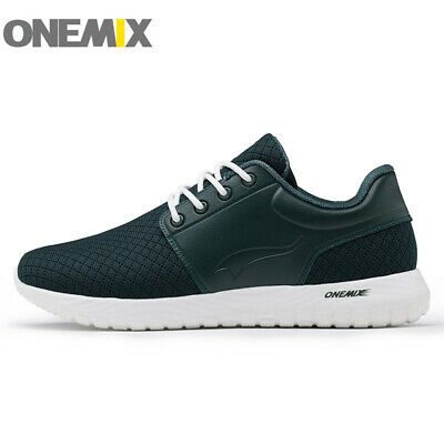 Onemix New Fashion Mens Sneakers Canvas Breathable Casual Sports Running Shoes