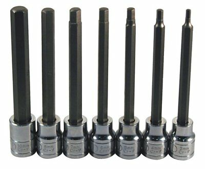 ATD Tools 13787 Extra Long 7-Piece Metric Hex Bit Socket Set