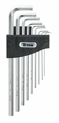 Titan Tools 12757 Extra-Long Arm Metric Hex Extractor and Hex Key Set - 9 Piece