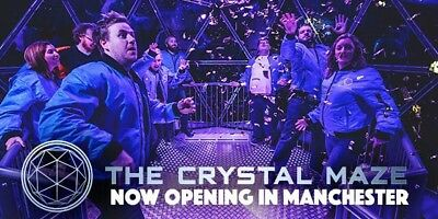 2x tickets Crystal Maze Experience in Manchester Sunday 10th December