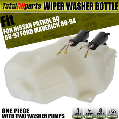Wiper Washer Bottle with 2 Pumps for Nissan GQ Y60 Ford Maverick DA 1988-1997