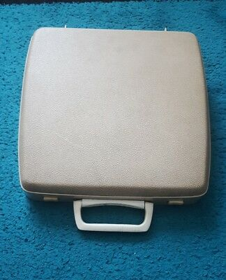 Vintage Smith Corona Empire Corona De Luxe Portable Typewriter Cream case cover