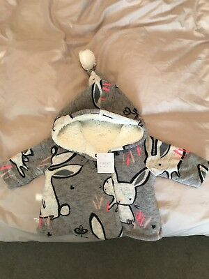 Next Baby Fleece Jacket With Hood Bnwt Up To 3 Months
