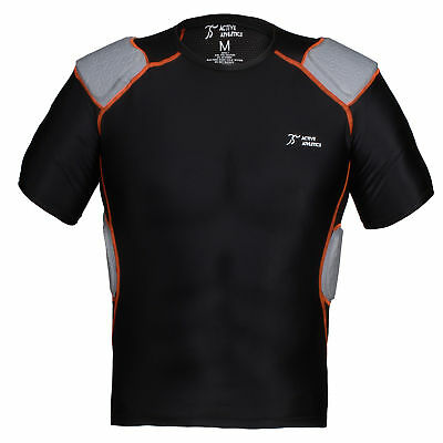 Active Athletics Five Pad Shortsleeve Football Shirt, Football Padded Shirt