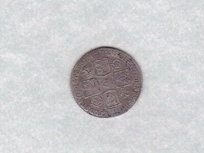 1728 George Ii Roses & Plumes Sixpence In Good Fine Condition