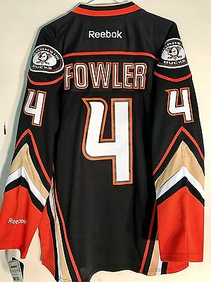 NHL Anaheim Ducks Came Fowler Premier Hockey Sur Glace Maillot Jersey