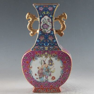 Chinese Enamel Porcelain Hand Painted Vase Made During The Qianlong Period FLC04