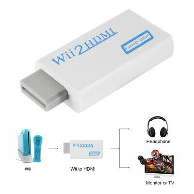 Wii to HDMI Wii2hdmi Video 3.5mm Audio Converter Adaptor For HDTV Project AC1037