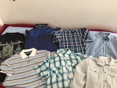 Quality Bundle Of Mens Shirts/tops Size L Next,River Island,G-star 1day Offer