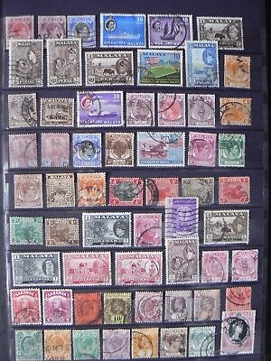 Collection Of Old Malaya Straits Settlements Etc Stamps