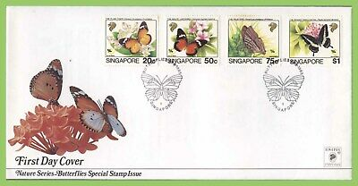 Singapore 1993 Butterflies set on First Day Cover