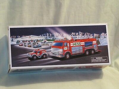 2005 Hess   Emergency Truck With Rescue Vehicle NEW IN ORIGINAL BOX