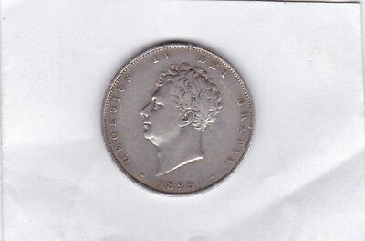 1825 George Iv Silver Half Crown In Good Fine Or Better Condition