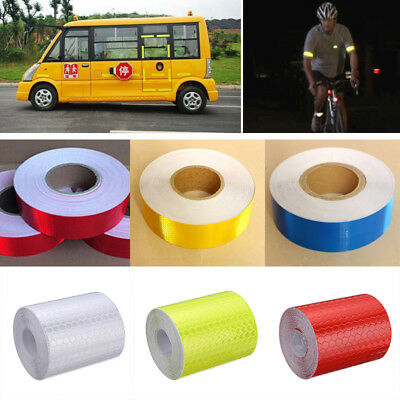 5CM x 3M Reflective Safety Warning Conspicuity Tape Roll Film Sticker Multicolor