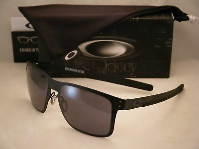 0686b44d91 OAKLEY HOLBROOK METAL Matte Black w +Red Iridium Lens NEW sunglasses ...