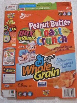 General Mills 2004 Peanut Butter Toast Crunch Cereal Box Vintage Old