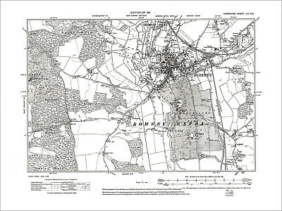 Romsey, Old Map Hampshire 1911: 56NE