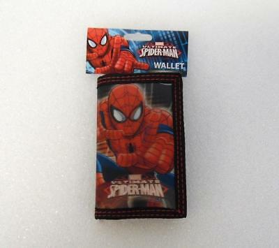 New MARVEL ULTIMATE SPIDERMAN Boys Red Black Holographic Trifold Wallet