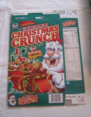 Quaker Capn Crunch Christmas 2004 Cereal Box Vintage Old