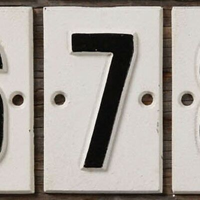 Cast Iron Sign - 7 - Sold in Case Pack of 5