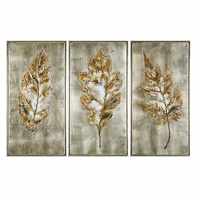 """Large Leaves Wall Art Painting Panel Set 