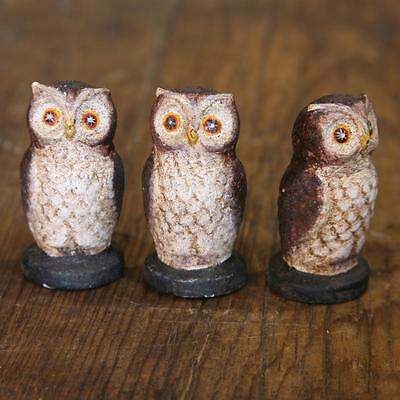 Wise Old Owl Figure- Cast Iron