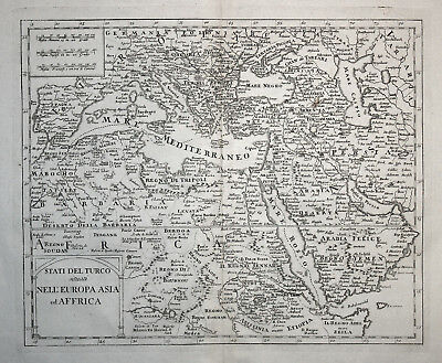 Europe Middle East North Africa Mediterranean Sea Red Sea Delisle Albrizzi 1750