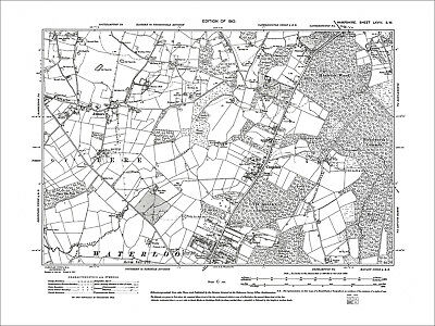 Cowplain, Waterlooville, Horndean (S), Anmore, Old Map Hampshire 1910: 68SW