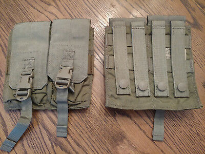 New Lot Of 8 Eagle Industries Double M4 Mag Lightweight 2 Mags Per Pch Khaki