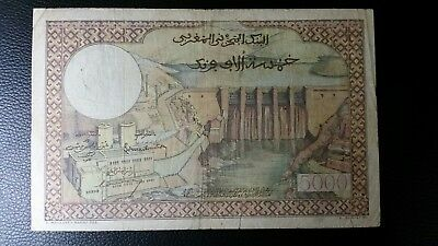 Morocco 5000 Francs p# 49 Currency Banknote 1953