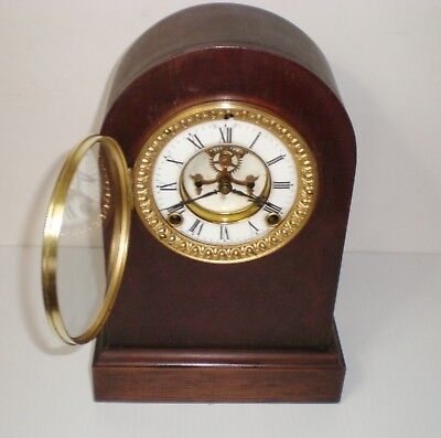 Ansonia Beehive Clock, Antique Open Escapement Mantle Clock Runs & Strikes Great