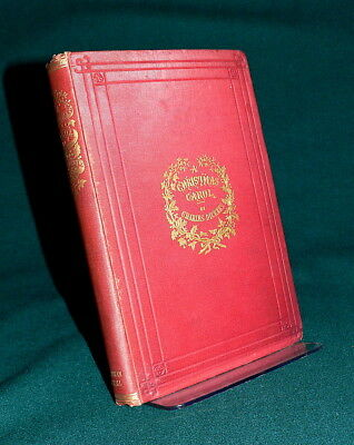 1860s A CHRISTMAS CAROL Very Early Edition PLATES Charles DICKENS