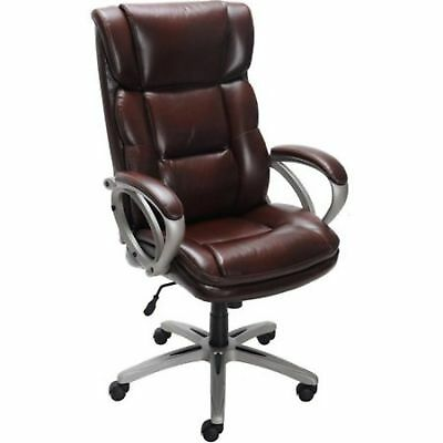 Executive Office Chair Leather Desk Big And Tall Brown Heavy Duty Wheels Seat