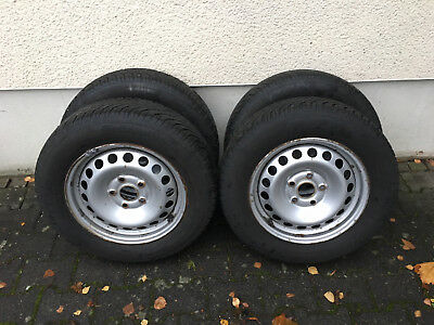 VW Winterräder komplett 195 / 65 R 15 T91 Continental Contact TS