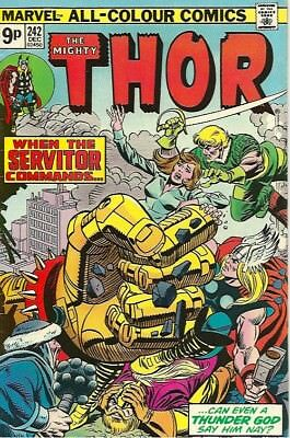 The Mighty Thor #242 December 1975 Pence Issue (Vfn-)