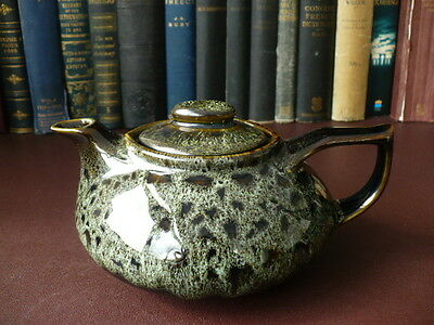 Vintage Fosters Of Cornwall Green Honeycombe Studio Pottery Teapot