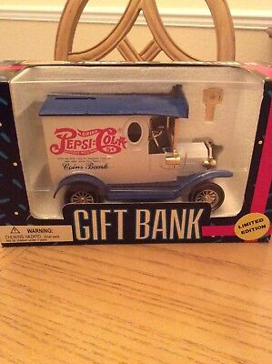 Pepsi Cola Gift Bank.  Limited Edition. New in Box.